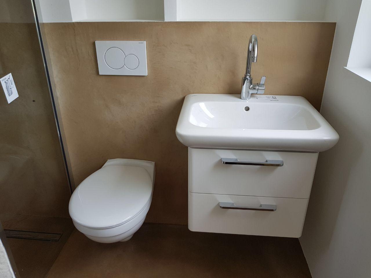carameo mineralischer putz f r fugenlose b der und spachtelb den mit carameo gestaltest du bad. Black Bedroom Furniture Sets. Home Design Ideas