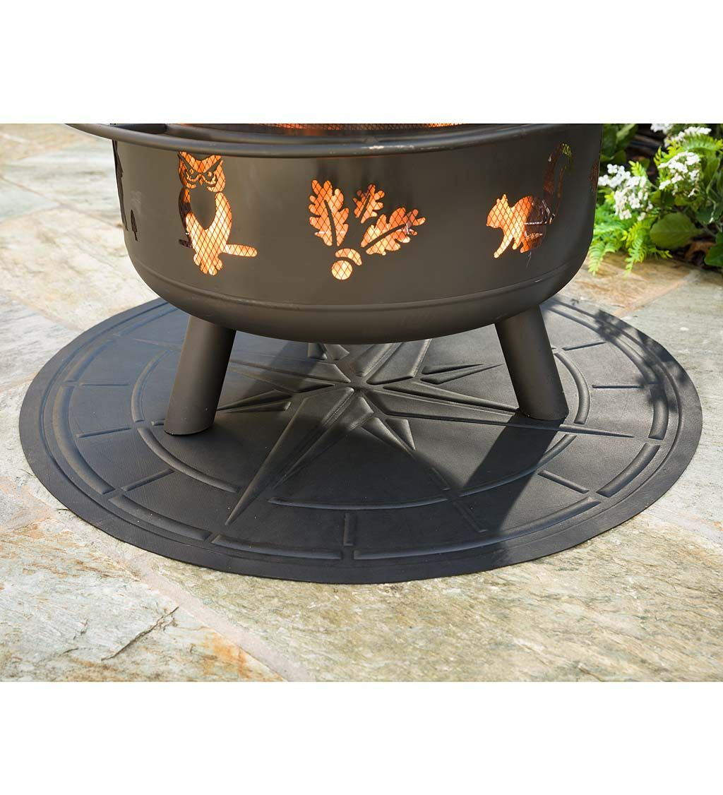 Protect Outdoor Surfaces Against Heat Flame And Damage With Our Fire Pit And Grill Mat The Nearly 3 Dia Mat Fire Pit Mat Fire Pit Accessories Deck Fire Pit