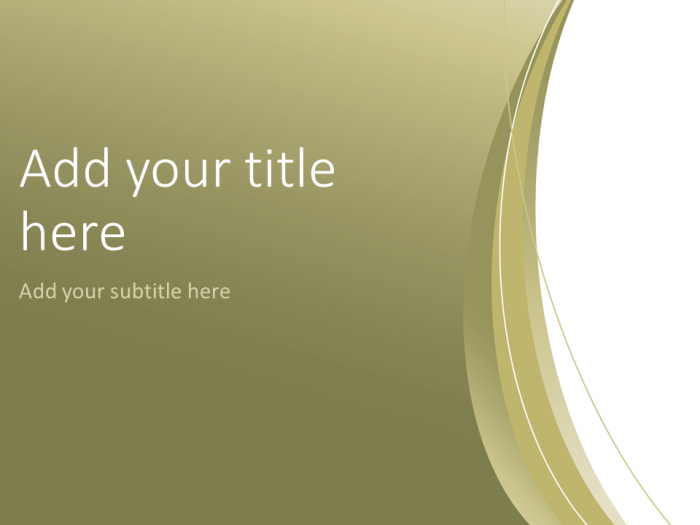 Gold Abstract Powerpoint Template Presentationgo Abstract