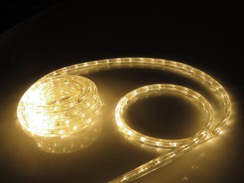 50FT SOFT WHITE LED FLAT ROPE LIGHT KIT FOR 120V Christmas Lighting