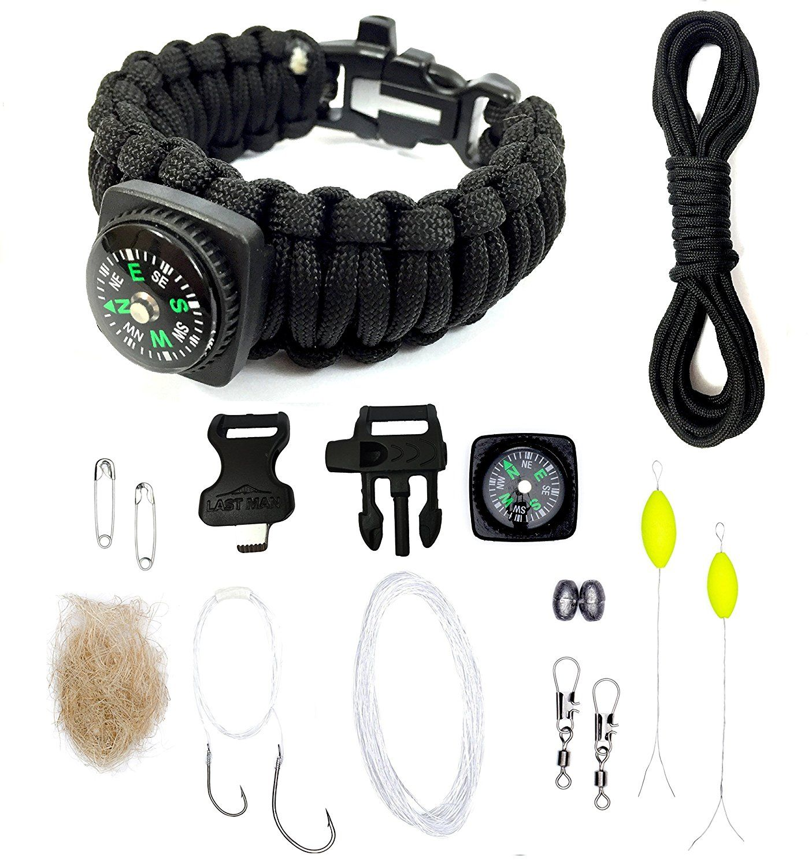 The Ultimate Paracord Survival Kit Bracelet With Firestarter