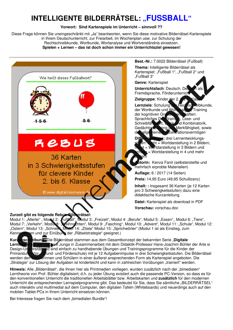 Intelligente Bilderrätsel zum Thema FUSSBALL – Lehreralltag | Sport ...