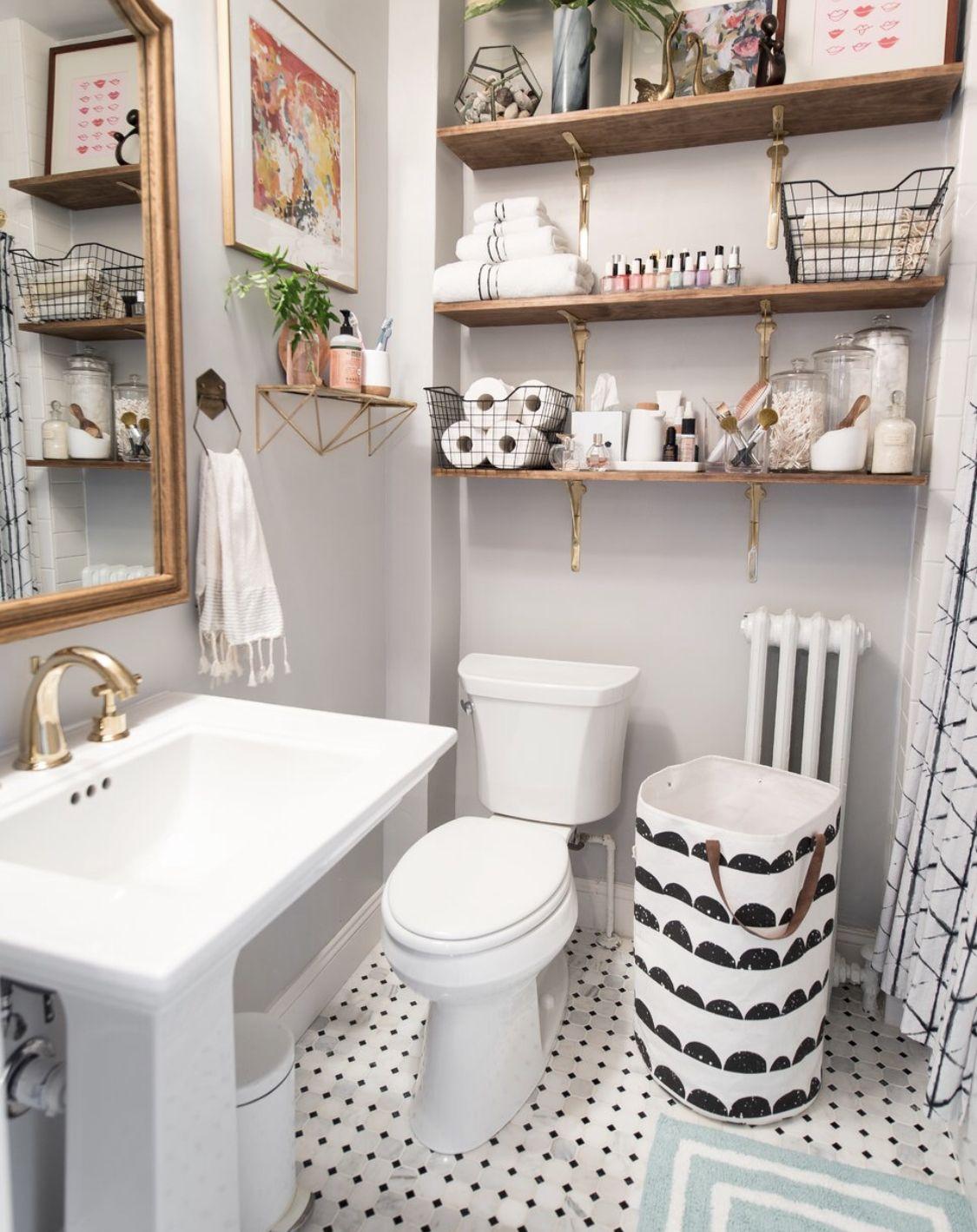 Home Decor 20 Cute Bathroom Countertop Ideas You Can Copy Now Classic Small Bathrooms Small Bathroom Furniture Bathroom Decor Apartment