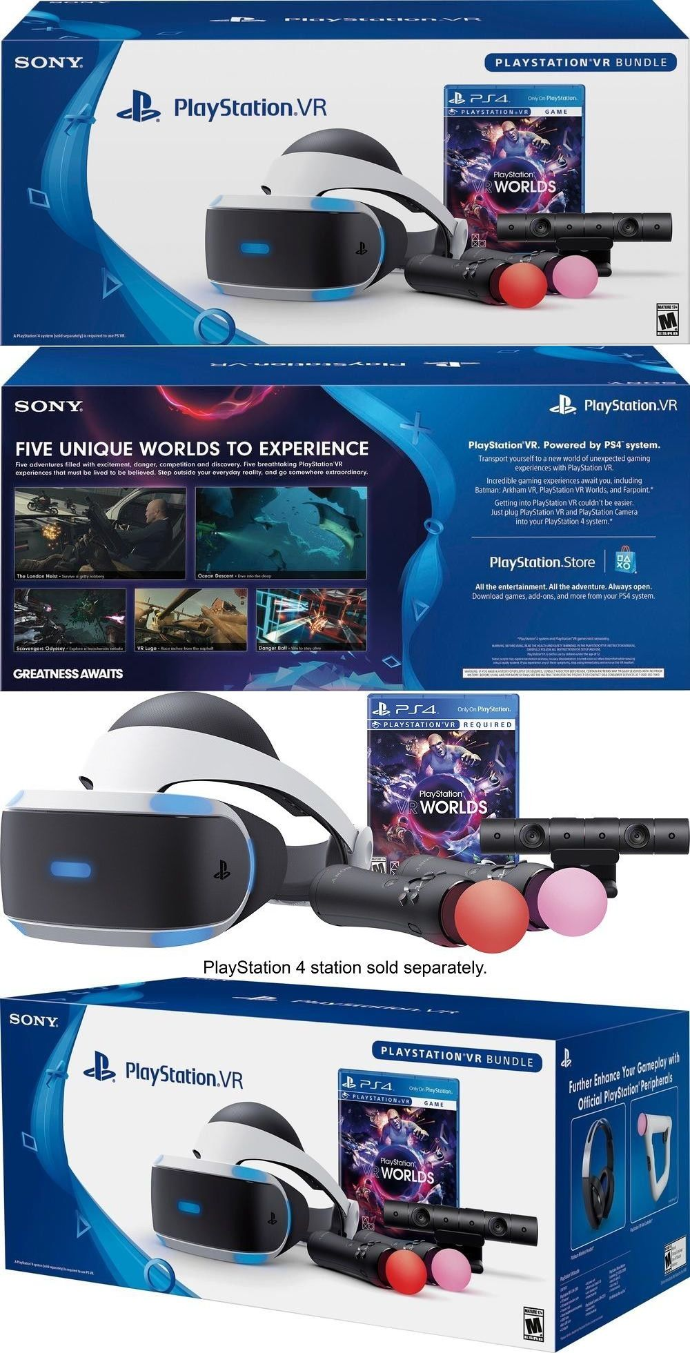 PC and Console VR Headsets: Brand New Playstation 4 Vr Launch Bundle