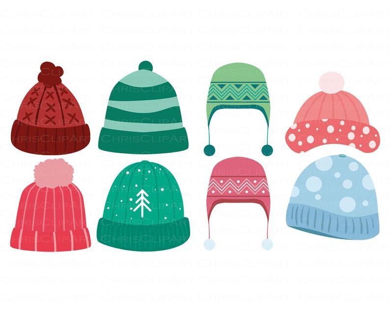 Winter Hat Svg Bundle Clipart Winter Hats Clipart Hats Etsy Snowman Clipart Winter Hats Clip Art