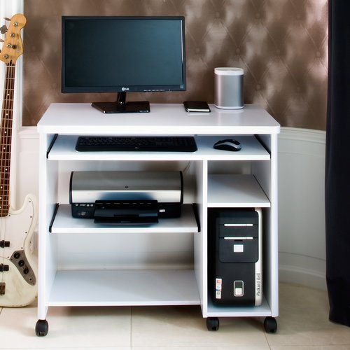 Cuuba Libre 90 Computer Desk Jahnke Colour: High Gloss White nel
