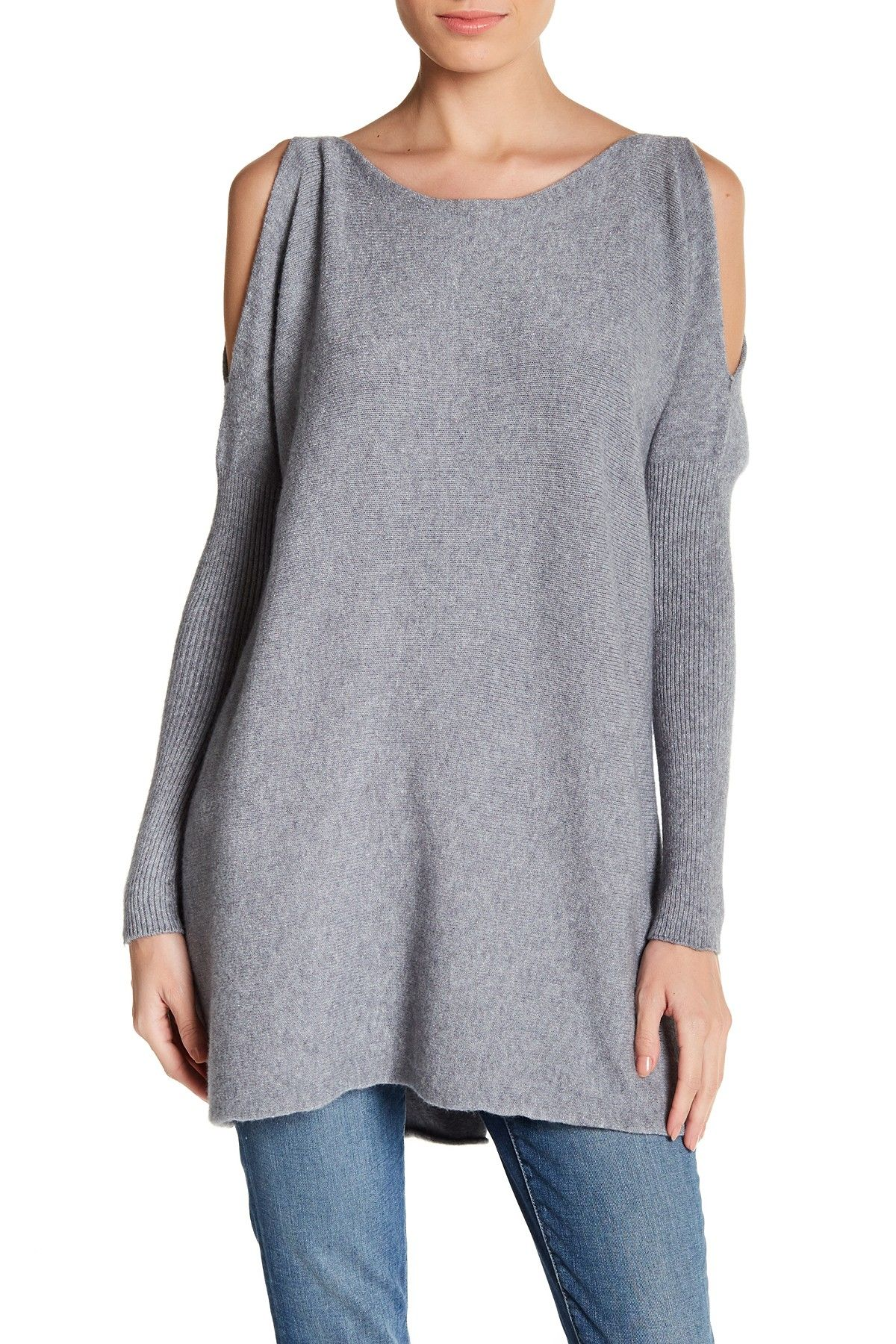 Cold Shoulder Long Sleeve Sweater