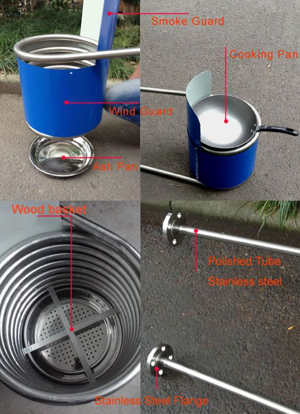 Stainless Steel Coil Heat Exchanger For Dutch Tub Wood Fired