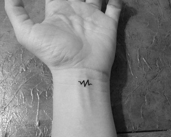 10 Tatouages Battements De Cœur Miniatures Temporaires Tattoo Faux Tatouage Noir Tattoos Tattoo Paper Temporary Tattoos