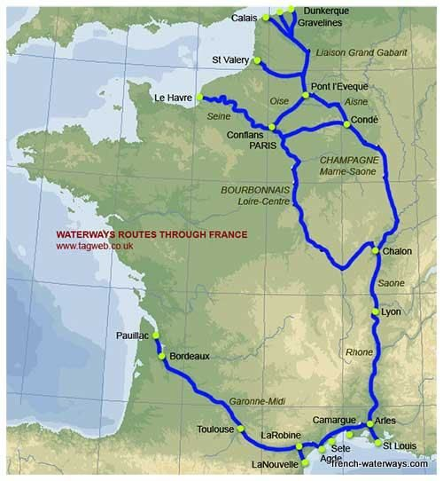 map of routes through France Υδροβια ζωη Pinterest France - Chambre Du Commerce Chalon Sur Saone