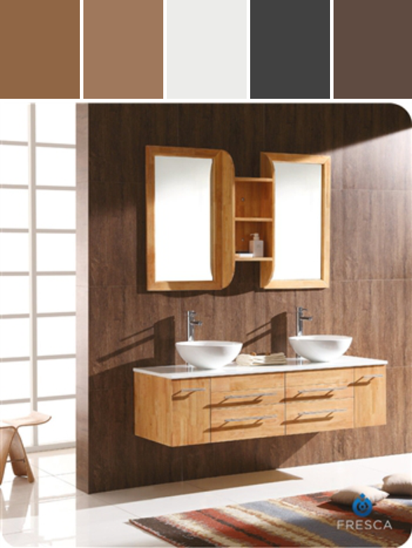 Beautiful Fresca Bellezza Natural Wood Modern Bathroom Vanity W/ Solid Oak Wood U0026  Round Ceramic Sinks Great Pictures