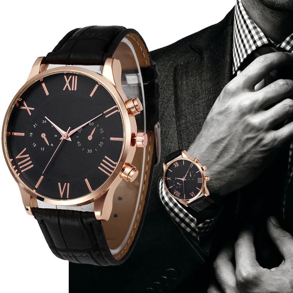 526f39a4559 Relogio Masculino Relógios Relógios de homem Moda Couro Relógio de pulso  Quartz analógico Relógios masculinos casuais Horas Relojes Hombre   03