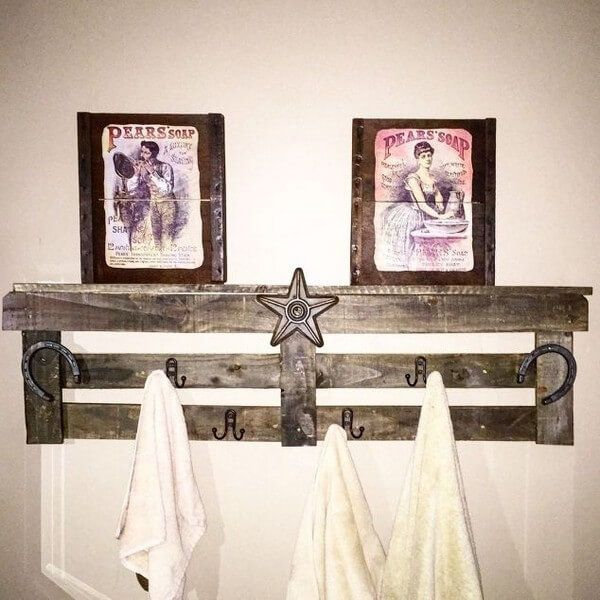 diy pallet towel holder