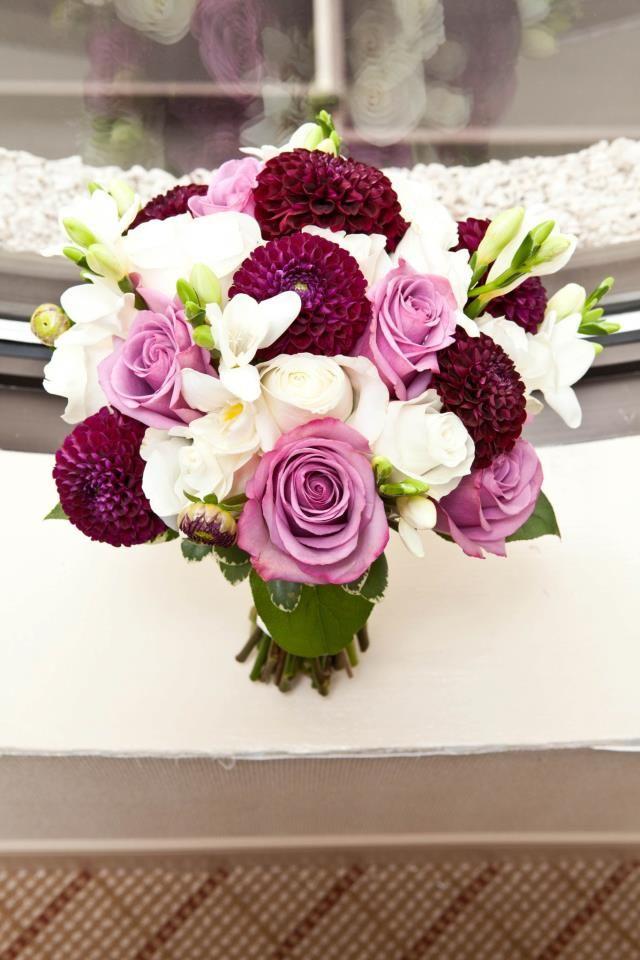Dahlias and roses