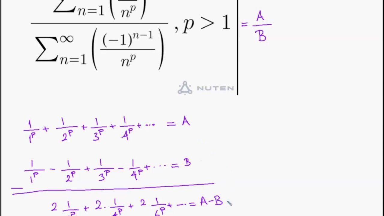 Riemann Zeta Infinite Sum Math Questions Solutions Pinterest