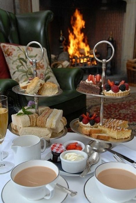 Just a spot of tea in front of the fireplace will get us in the mood for fall.