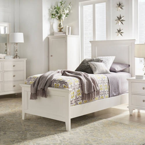 Best Chelsea Lane Elise Twin Size Bed Multiple Colors White 400 x 300