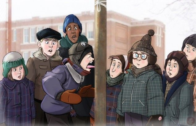 A Christmas Story Characters.A Christmas Story Characters And Scenes As Cartoons 6