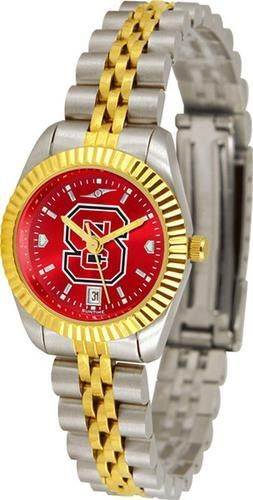 NCSU NC State Wolfpack Ladies Gold Dress Watch