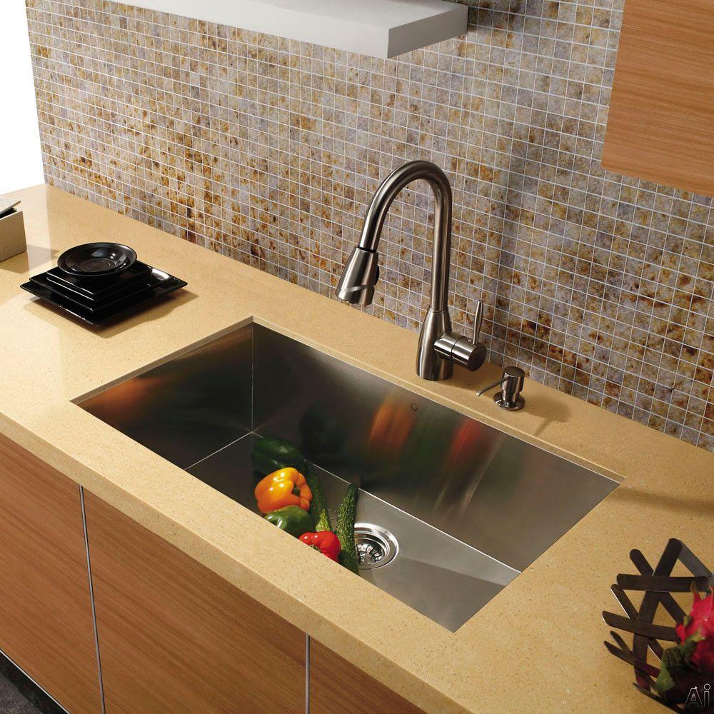 Vigo Industries Vg3019bx 30 Undermount Single Bowl Stainless Steel Sink Wi Stainless Steel Kitchen Sink Undermount Steel Kitchen Sink Undermount Kitchen Sinks
