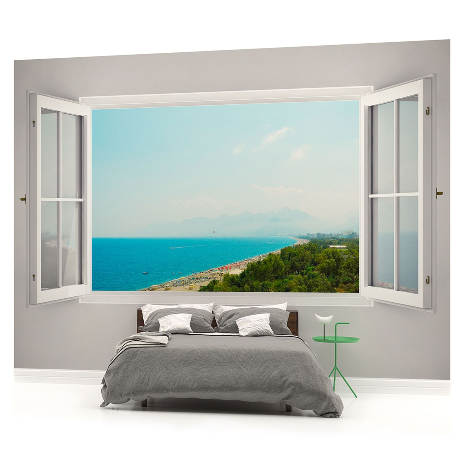 meerblick strand meer fototapeten wandbild fototapete bild. Black Bedroom Furniture Sets. Home Design Ideas