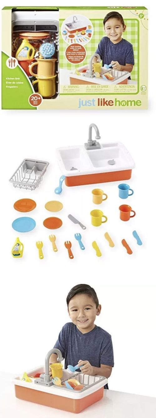 Kitchens 158746 Just Like Home Kitchen Sink Running Water 20 Pcs