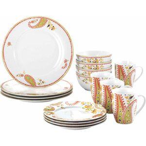 Rachael Ray Dinnerware Paisley 16 Piece Porcelain Dinnerware Set Walmart Com Rachael Ray Dinnerware Dinnerware Dinnerware Set