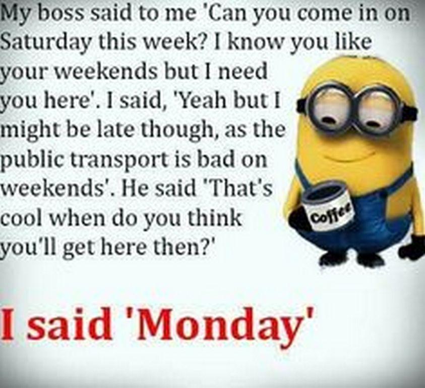 Minion Monday Quotes: Funny Minions Pictures Jokes (12:55:08 PM, Tuesday 26