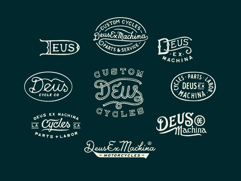 Deus Ex Machina Badges Graphic Design Blog Deus Ex Machina Typography Logo