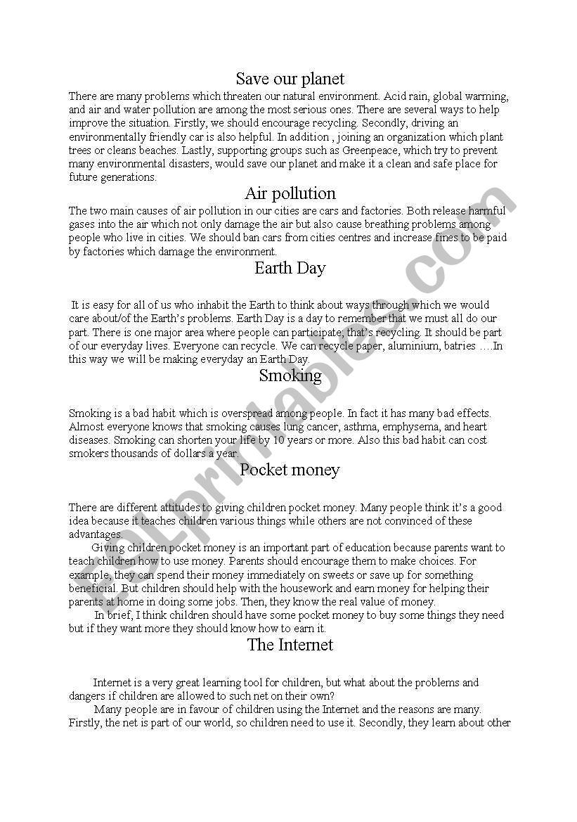 caring for the earth essay
