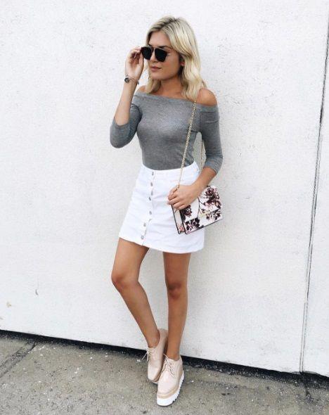 42d7ef159847 Lush White Denim Skirt, Emily Luciano   // babes in Lush   Denim ...