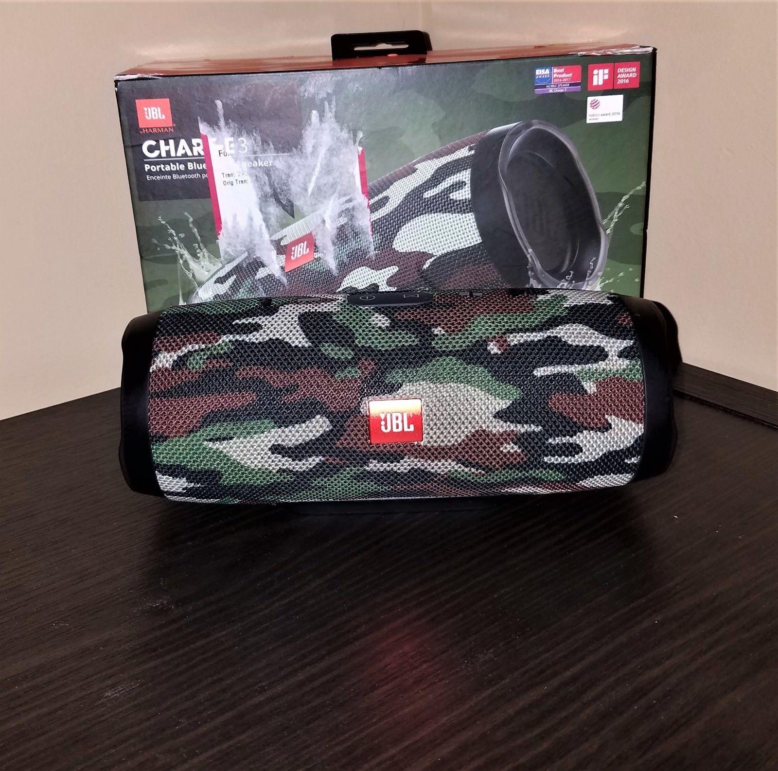 Jbl Charge 3 Waterproof Portable Bluetooth Speaker Camouflage Bluetooth Speakers Portable Bluetooth Speaker Portable