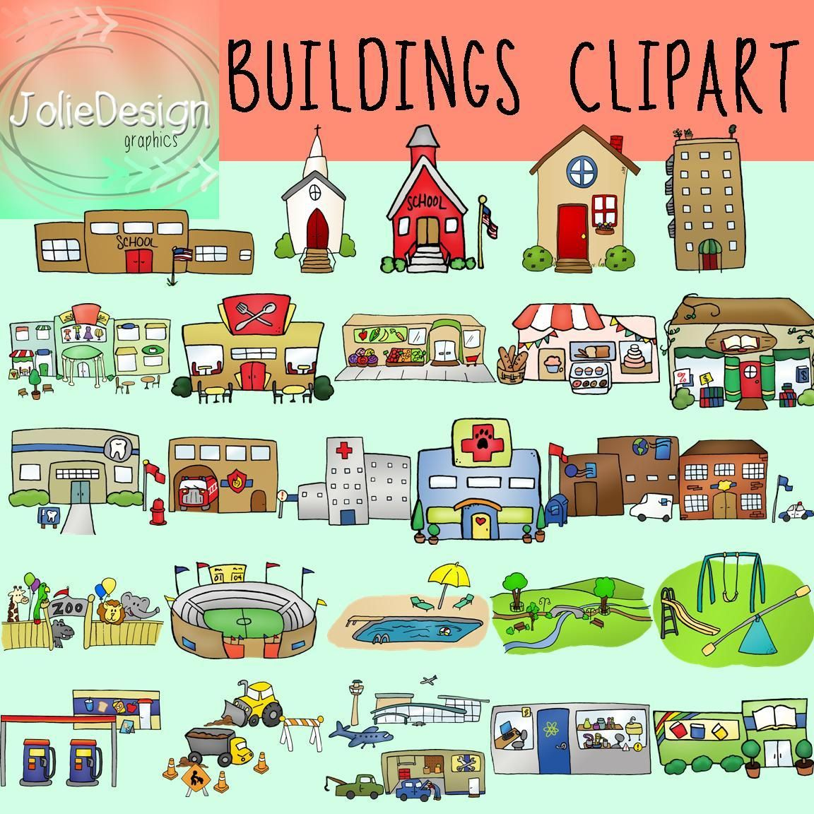 Buildings Clipart Bundle