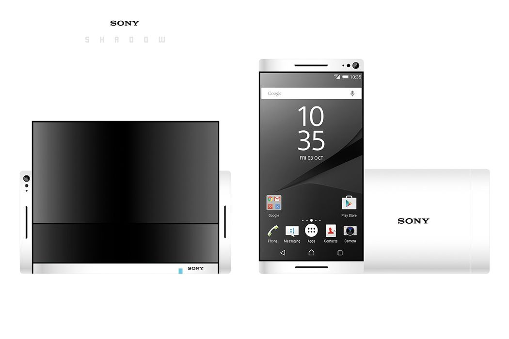 Sony Shadow Phone Design ~ One Super-slim Sliding Smartphone
