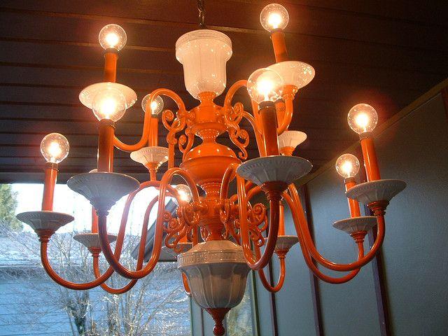 Orange Chandelier Orange Chandeliers Chandelier Ceiling Lights