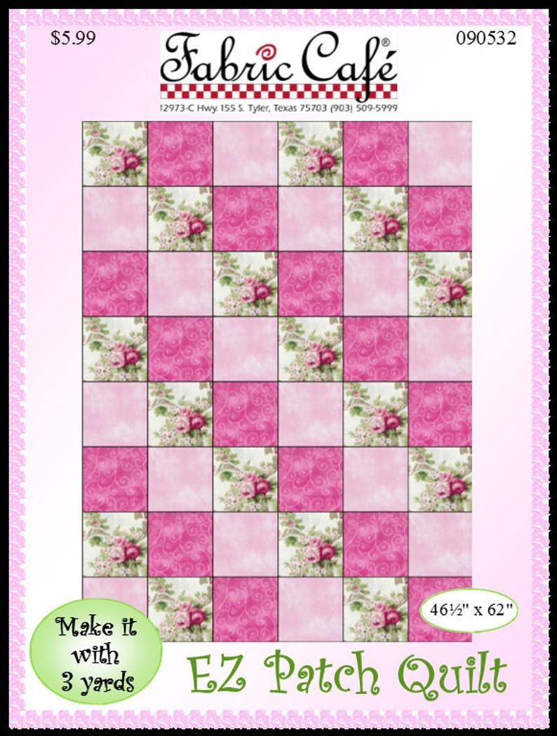 Downloadable Easy Patch Quilt Pattern