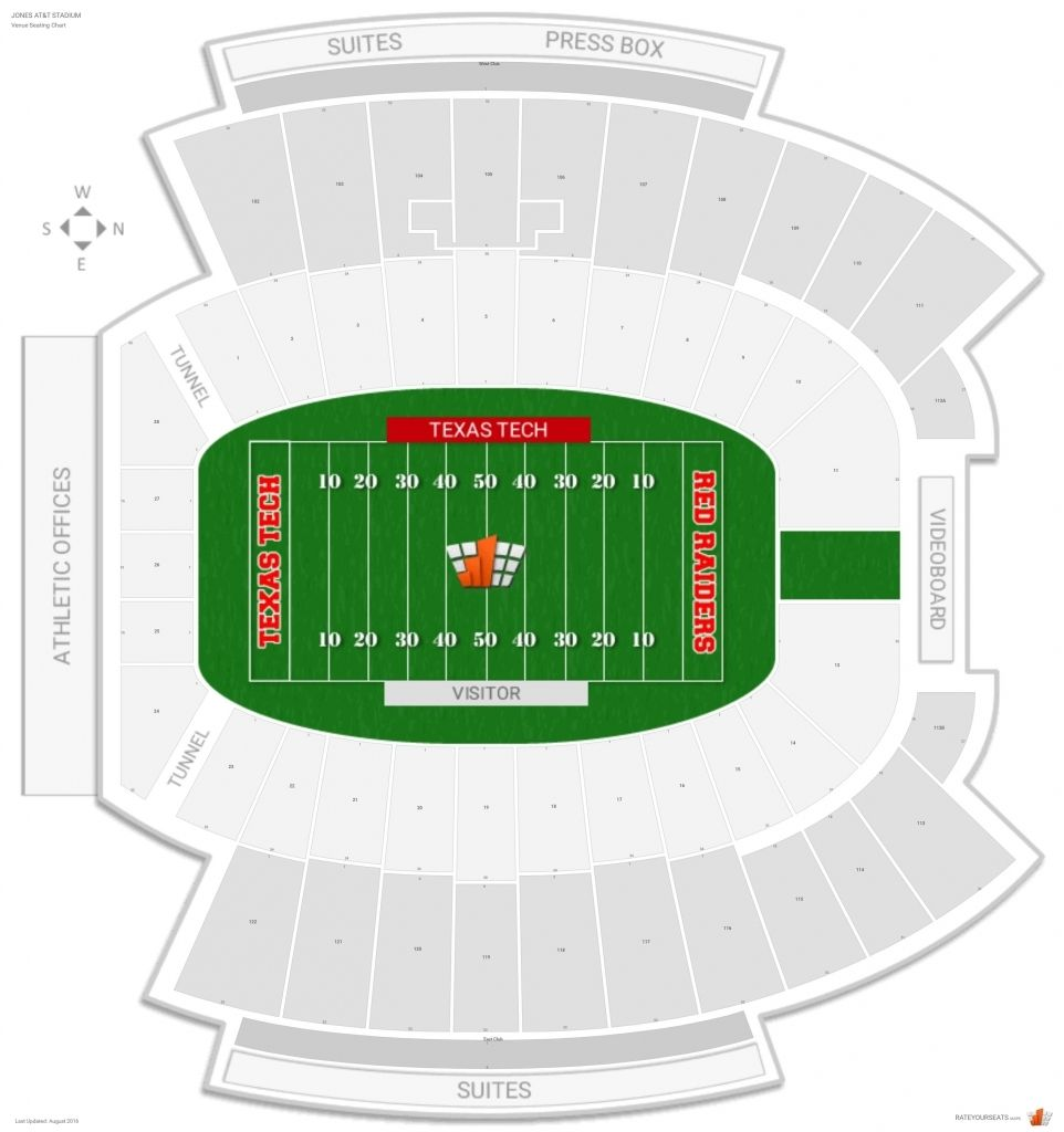 Jones att stadium texas tech seating guide rateyourseats