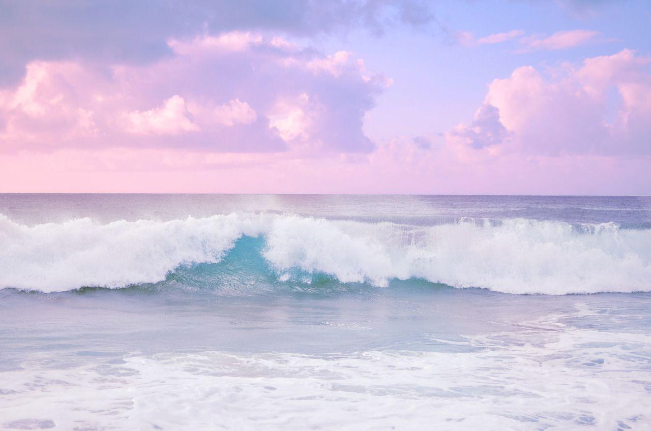Super Duper Cutie Emesre Sunsets Have No Chill Blue Aesthetic Pastel Aesthetic Desktop Wallpaper Clouds