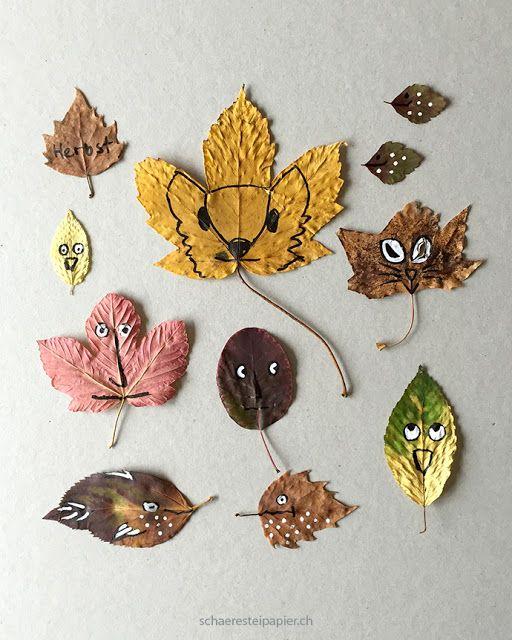schaeresteipapier: Gekritzel auf Herbstblätter