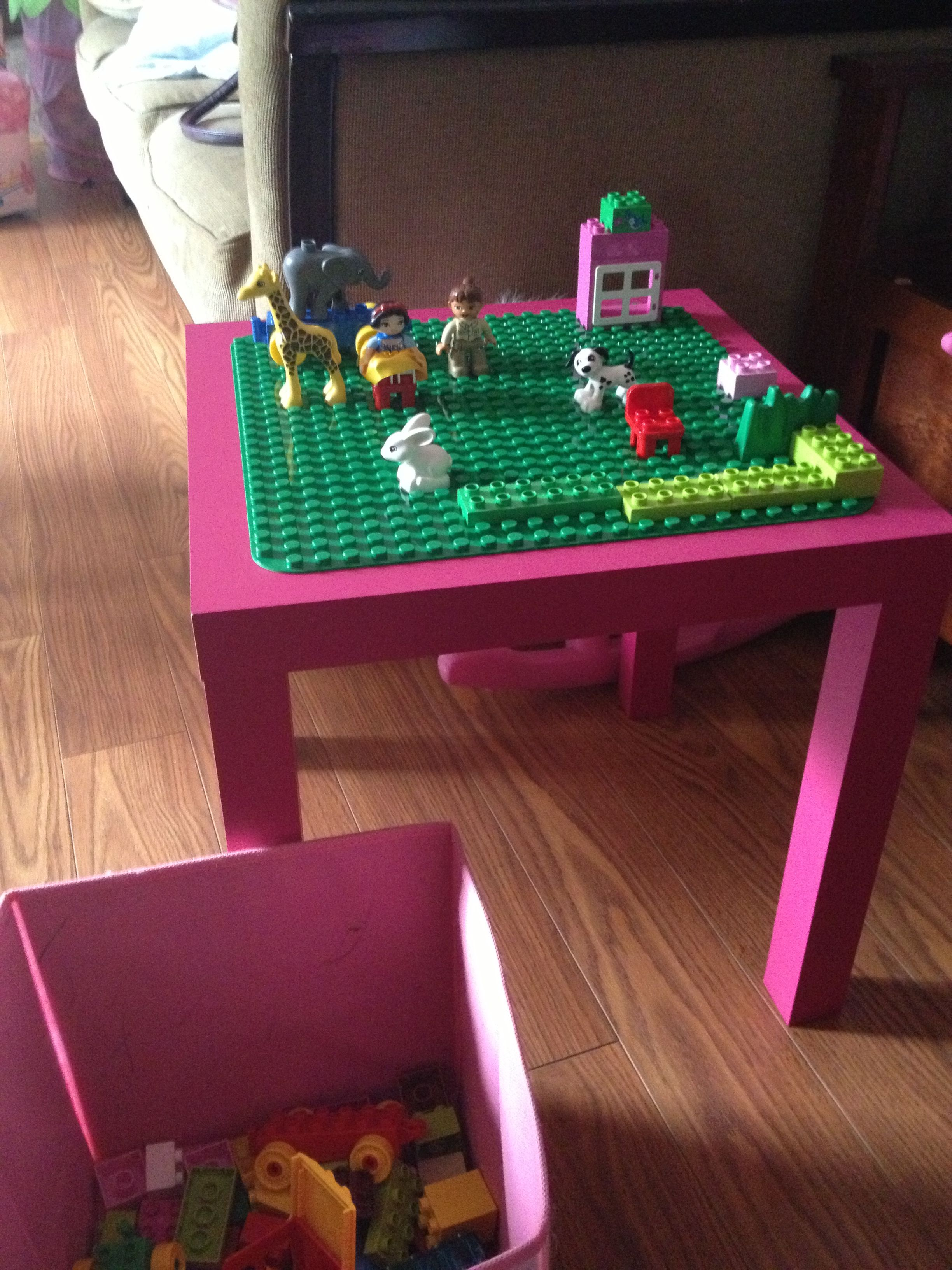 (Garage Sale Table Turned) Lego Duplo Table...to Go With The Duplo Blocks  She Wants.
