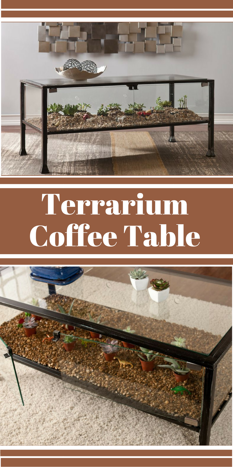 terrarium coffee table perfect for displaying succulents