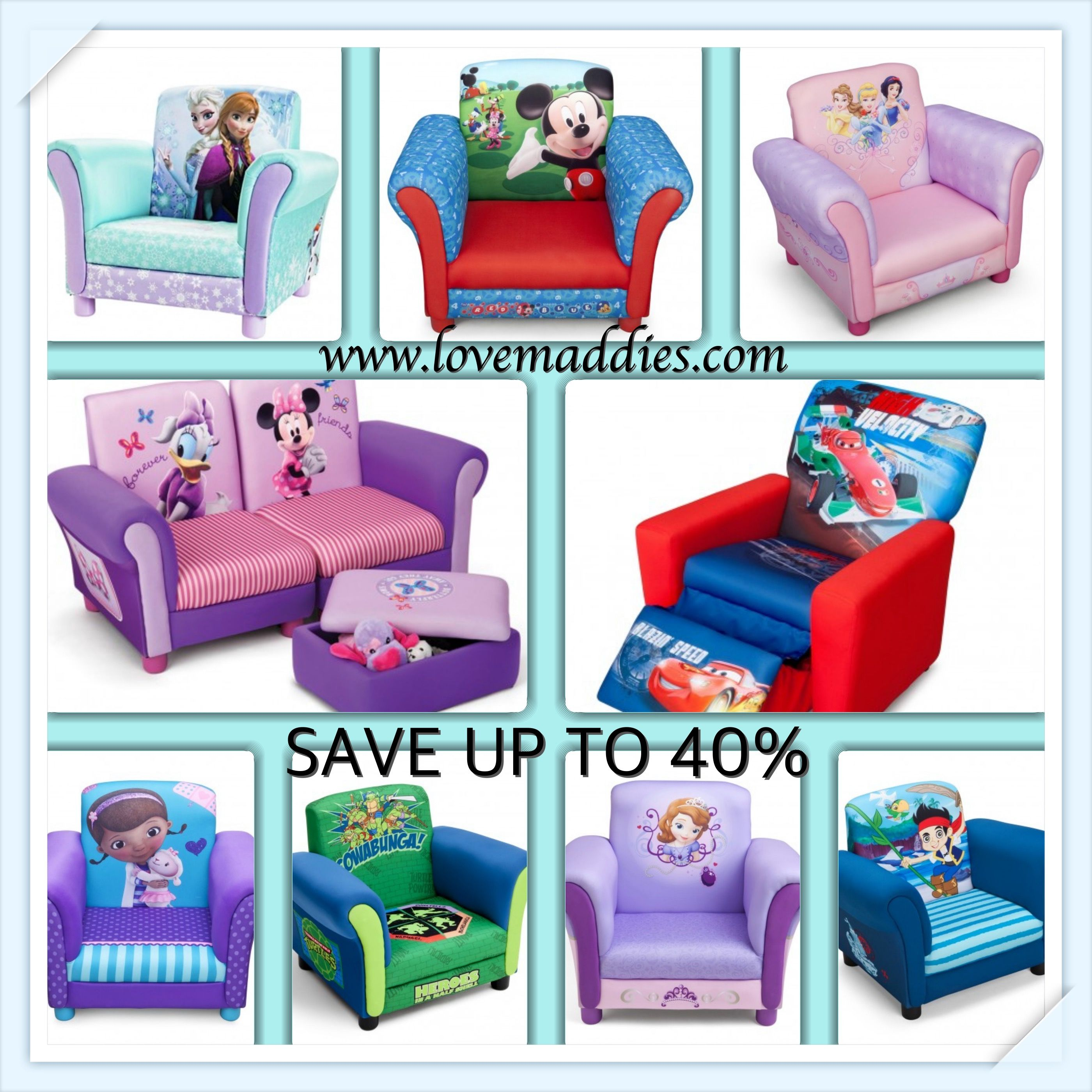 Captivating Save Up To 40% Today At Love Maddies Xx On Childrenu0027s Character Upholstered  Chairs And