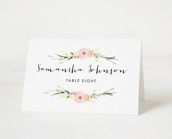 This Listing Is For Printable Wedding Place Card You To Print At Home Or