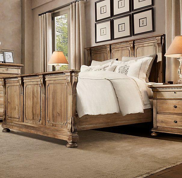 St James Bed Antiqued Natural Restoration Hardware Bedroom Furniture Distressed Furniture Furniture
