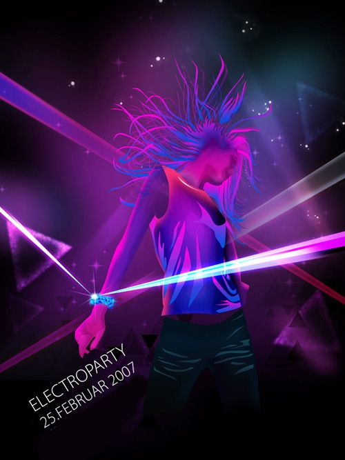 Night Club Flyer u2013 Electroparty Advertisements Pinterest - club flyer background