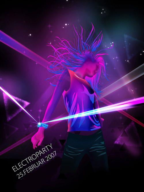 Night Club Flyer U2013 Electroparty  Club Flyer Background