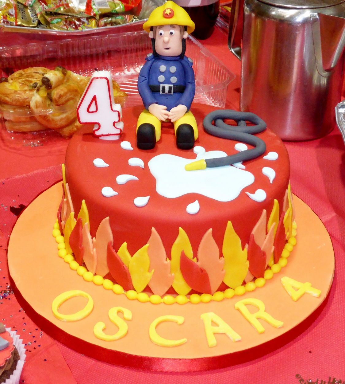 Fireman Shaped Cake