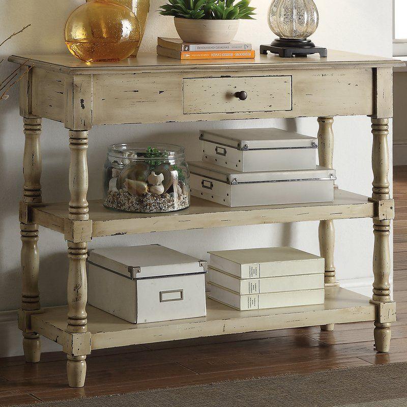 wayfair farmhouse console table