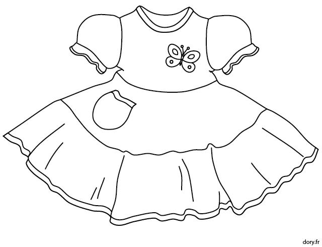 Dessin à Imprimer Une Robe Pour Fillette Accessoires