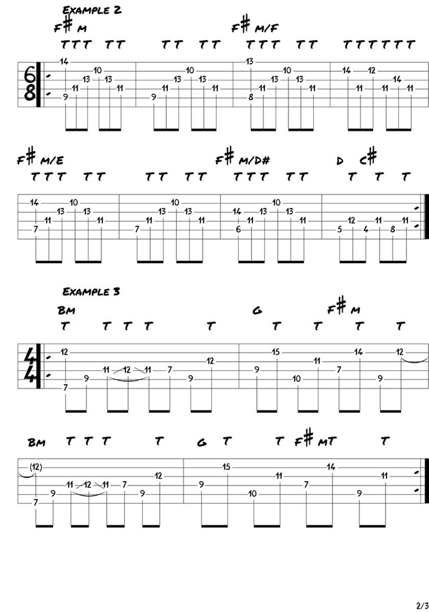 How To Simultaneously Tap Melodies And Play Chords Guitarras